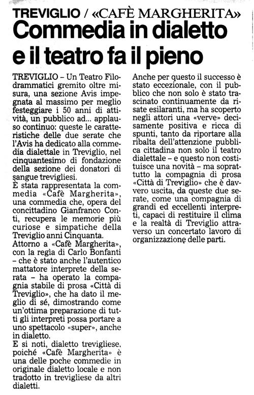 Articolo apparso su Il Giorno Il 21 aprile 1998