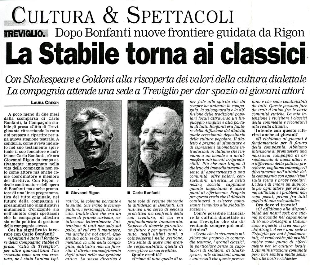 Articolo apparso nel 2001