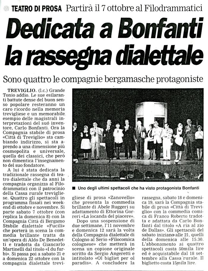 Articolo apparso su Il Popolo Cattolico nell'ottobre 2001