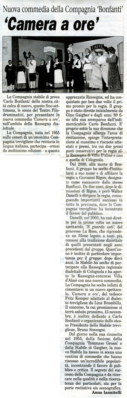 Articolo apparso su Il Popolo Cattolico il 6 novembre 2004